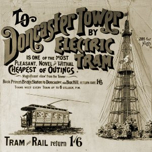 Advertising poster for Box Hill-Doncaster tramway, circa 1892-1896. TMSV collection.