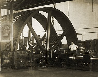 Fitzroy engine house gearing wheel. Photograph University of Melbourne.