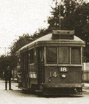 HTT No 14 at Burwood terminus, about 1920 (photograph courtesy Burwood History Group)