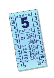 M&MTB ticket, 5 sections. Russell Jones collection