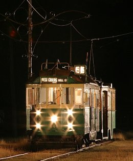 SW2 644 at Trams in the Twilight, Bylands, 25 February 2006.  Photograph courtesy Chris Gordon.