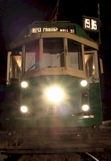 SW2 644 at Bylands terminus on Trams in the Twilight 2006. Photograph William Fedor