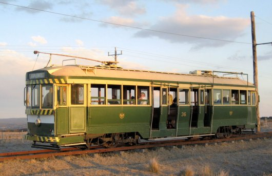 Ballarat 36 at Trams in the Twilight 2007. Photograph Mal Rowe.