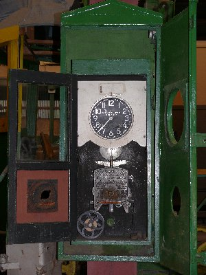 Bundy clock at TMSV's Bylands Tramway Heritage Centre. Photograph courtesy Russell Jones.
