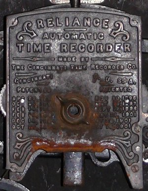 Detail of TMSV's Bundy clock. Photograph courtesy Russell Jones.