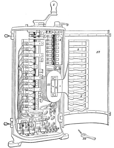 General Electric K2 series-parallel tramway controller. Image from ICS Reference Library Contruction and Equipment of Electric Tramways and Railways (1923)