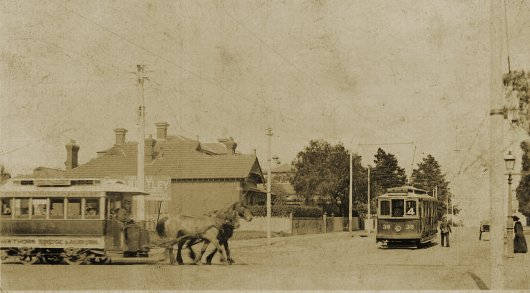 <click to enlarge> View of Glenferrie & Riversdale Roads in 1913-14. Photograph from the collection of Richard Adderson